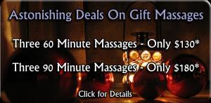Holiday Specials on Massage